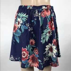 17bfb3dd0 Living Doll Skirts - Living Doll Floral Print Stretch Waist Mini Skirt